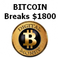 Bitcoin Breaks $1800 USD