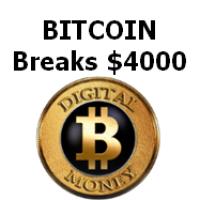 Bitcoin Breaks $4000 USD